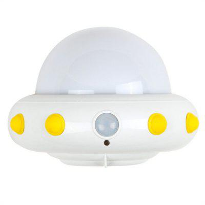 UFO Plug in Electric Remote LED Small Night Light White