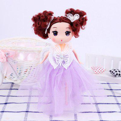 18CM Butterfly Wedding Dress Princess Doll Pendant