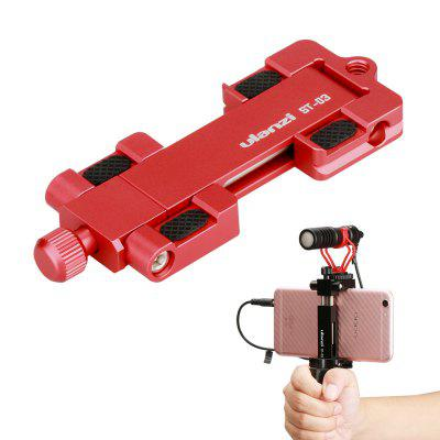 Ulanzi ST-03 Foldable Metal Smartphone Tripod Mount for iPhone Samsung with Hot Shoe Mount for Microphone Video Light