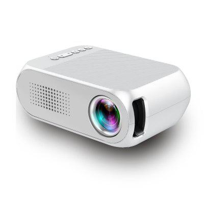 Buy YG-320 Portable Home Mini HDMI USB LED 1080P Projector SNOW WHITE for $51.15 in GearBest store