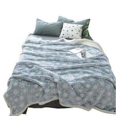 Double layer thickening printing wool blanket- 150CM X 200CM CHROME