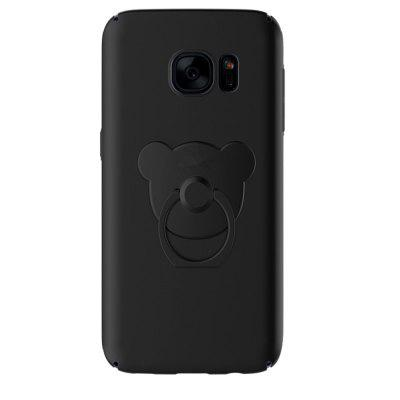 Originality Little Bear Ring Holder+PC Ultra-Thin and Light PC Hard Case For Samsung Galaxy S7