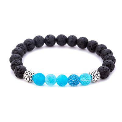Bracciale per uomo Fashion Beads Agate Color Block Accessory