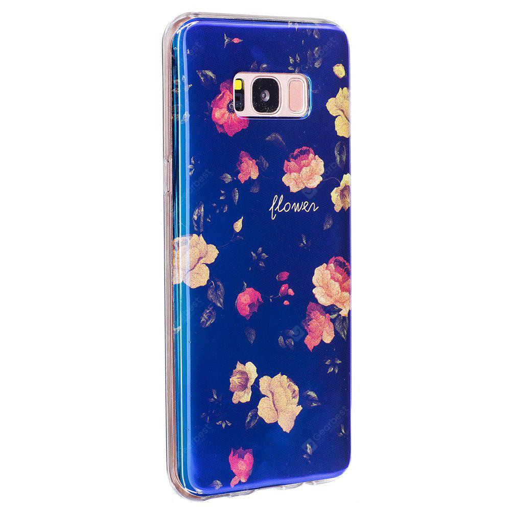 Custodia per cellulare Blue Glitter Bud Pattern per Samsung Galaxy S8 Plus