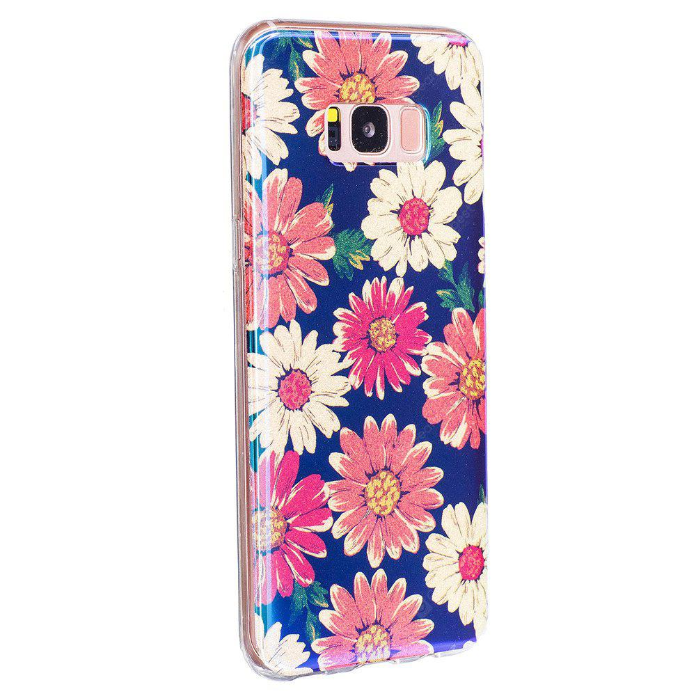 Custodia per cellulare Blue Glitter Daisy Pattern per Samsung Galaxy S8 Plus