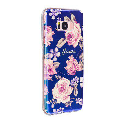 Blue Glitter Pink Peony Pattern Phone Case for Samsung Galaxy S8 Plus