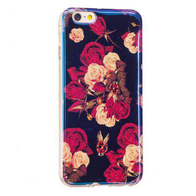 Custodia motivo fiori blu glitter per iPhone 6 Plus