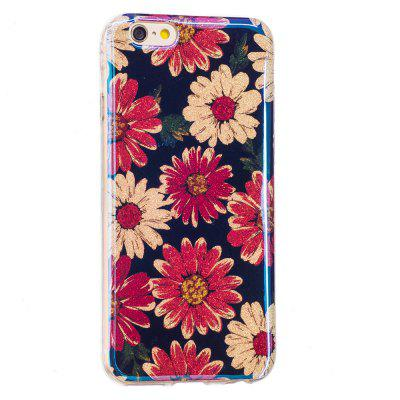 Blue Glitter Daisy Pattern Case for iPhone 6 Plus