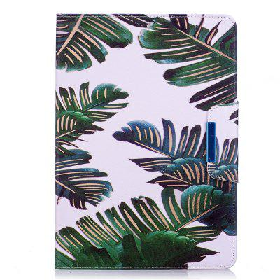 Green Leaves Leather Protection Case for iPad 10.5