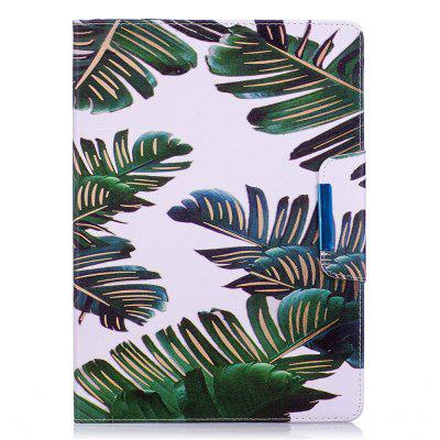 Green Leaves Pattern Leather Protection Case for iPad 5 / 6