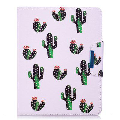 Green Leaves Pattern Leather Protection Case for iPad 2 / 3 / 4
