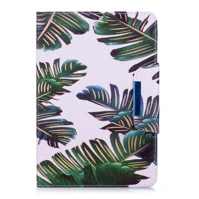 Green Leaves Pattern Leather Protection Case for iPad Mini 1 / 2 / 3 / 4