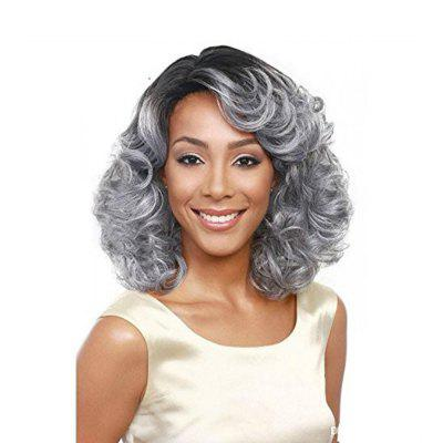 Synthetic Short Wavy Natural Hair Cheap Charming Wig for African American
