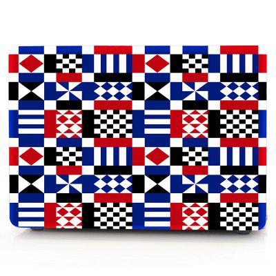 Computer Shell Laptop Case Keyboard Film for MacBook New Pro 15.4 inch Touch 2016 3D Geometric Pattern