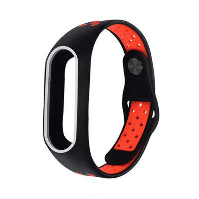 Double Color Silicone Wrist Strap for Xiaomi Mi Band 2