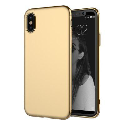 Luxury 3in1 Design Electroplated Matte Hard PC Back Cover for iPhone X Case