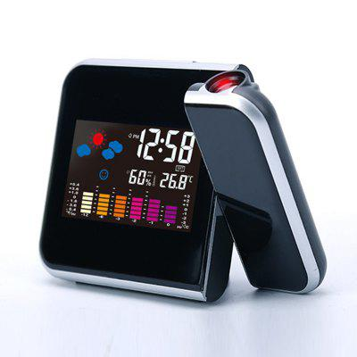 A8190 Color Backlight Weather Forecast Device Projector Temperature and Humidity Clock