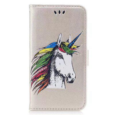 HD Glitter Colorful Horse Pattern PU Leather Wallet Case for iPhone 8 Plus