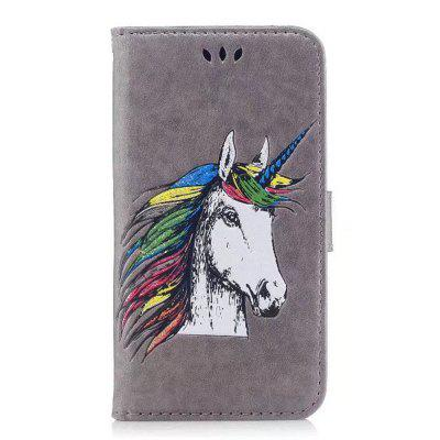 HD Glitter Colorful Horse Pattern PU Leather Wallet Case for iPhone 7