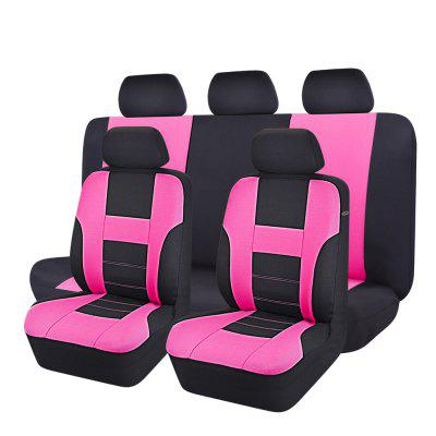 Uinversal Black with Pink Full Seat Cover