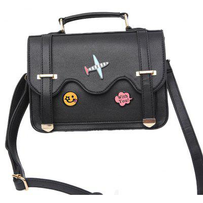 Ladies Flower Stickers Fashion Double Sided Shoulder Bag