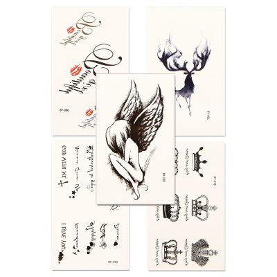 5pcs Women's Red lip Tattoo Sticker Set Waterproof Cute Cartoon All Match AccessoryYMBY078-082