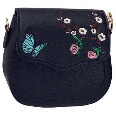 Women's Crossbody Bag Colorblock Flower Butterfly Embroidered Trendy Bag