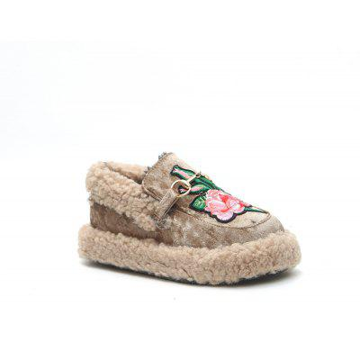 Female Winter New Fashionable Warm Velvet Soya-Bean Shoes