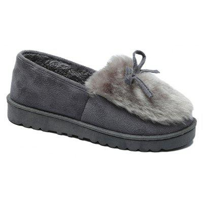 Round Head Autumn Winter New Comfortable Lady Flat Shoes
