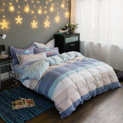 100 Percent Cotton Four-piece of Sea Wave Bedding Sets