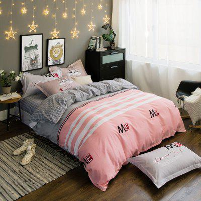 101 Percent Sanding-cotton Four-piece of Pink Save Bedding Sets