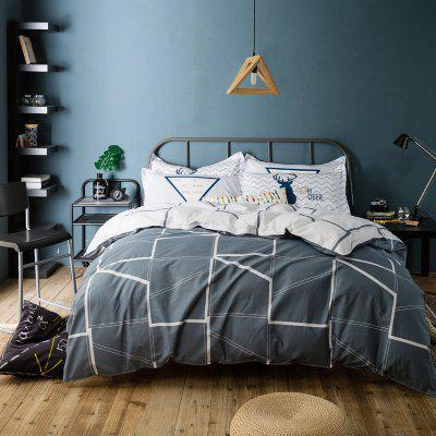 100 Percent Sanding-cotton Four-piece of Dark Grey Stripe Bedding SetsBedding Sets<br>100 Percent Sanding-cotton Four-piece of Dark Grey Stripe Bedding Sets<br><br>Package Contents: 1 x Quilt Cover, 1 x Bed Sheet, 2 x Pillowcases<br>Package size (L x W x H): 38.00 x 30.00 x 7.00 cm / 14.96 x 11.81 x 2.76 inches<br>Package weight: 2.6000 kg<br>Pattern Type: Flower<br>Product weight: 2.5000 kg<br>Style: Fresh / Rural, Strip / Grid, Cartoon / Anime