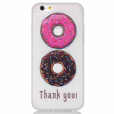Donuts Luminous Ultra vékony Slim Soft TPU szilikon tok iPhone 6 Plus / Plus 6s