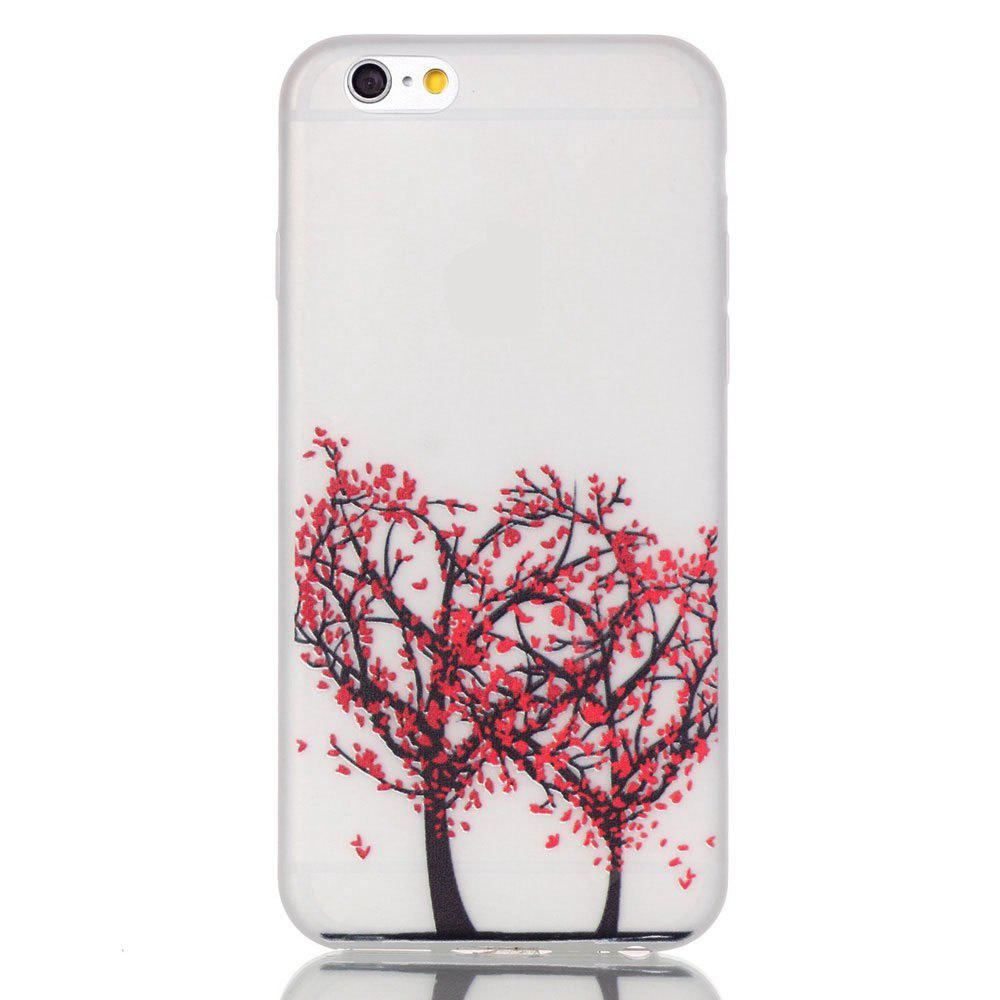Red Tree Luminous Ultra Thin Slim Soft TPU Silicone Case para iPhone 6 / 6s