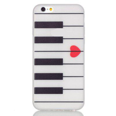 Piano Luminous Ultra Thin Slim Soft TPU Silicone Case para iPhone 6 / 6s