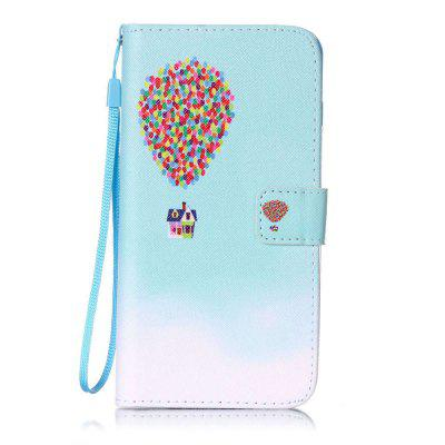 Balloon House Pattern PU Leather Flip Wallet Case for iPhone 7 Plus / 8 Plus