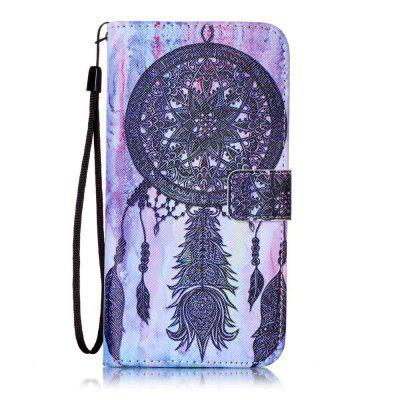 Black Wind Chimes Pattern PU Leather Flip Wallet Case for iPhone 7 Plus / 8 Plus