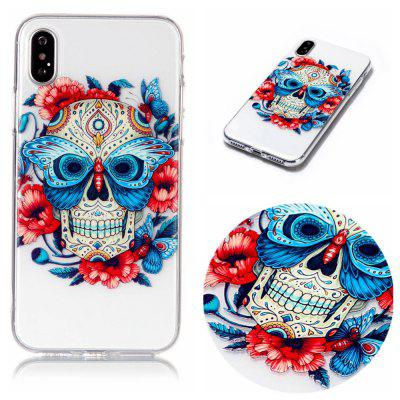 Skeleton Soft TPU Silicone Case Cover for iPhone X