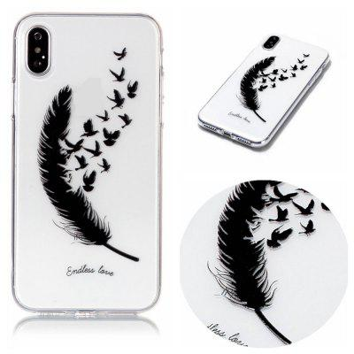 Feather Soft TPU Silicone Case Cover for iPhone X
