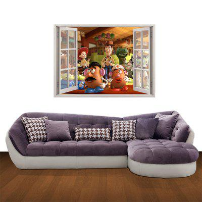 Creative 3D Toy Story wall stickers