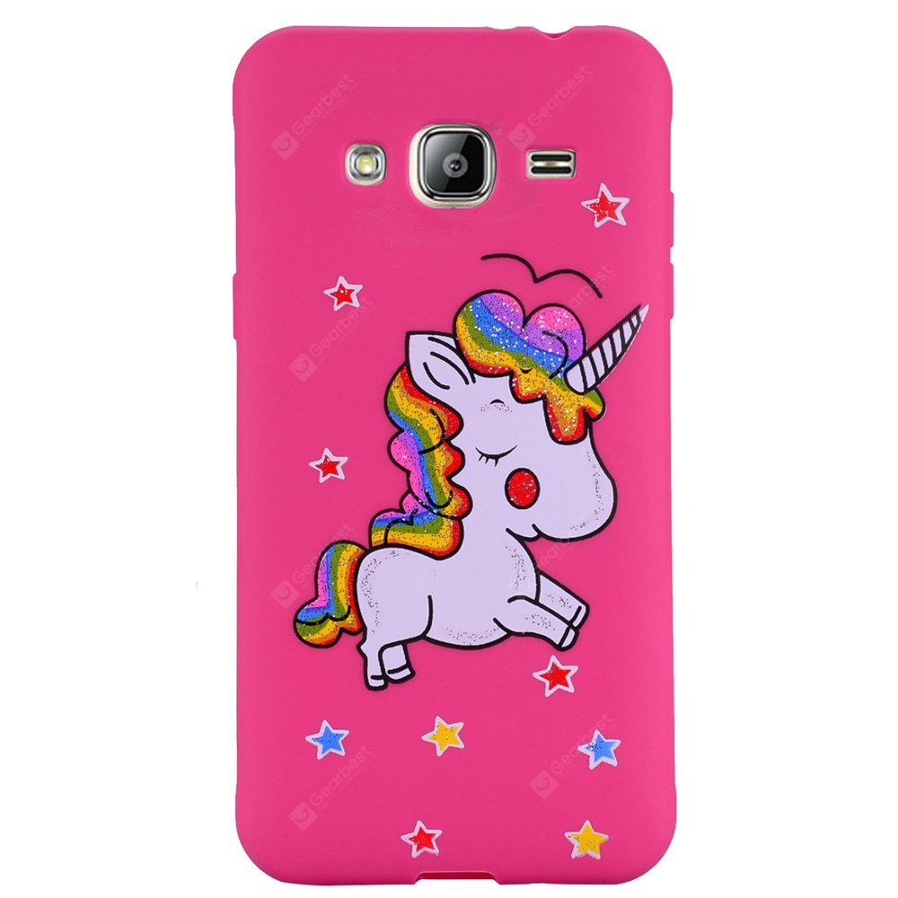 Cute Unicorn TPU Silicone Gel Soft Clear Case Cover for Samsung Galaxy J3 2016