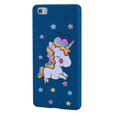 Cute Unicorn TPU Silicone Gel Soft Clear Case Cover para Huawei P8 Lite