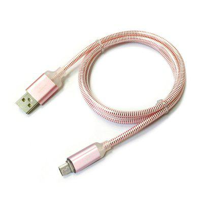 1M USB Light Cable for Samsung HTC Huawei Xiaomi Android Keep Charging with 7 Colours Fast Charge Wire