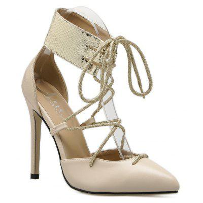 Lady High Thin Heel Hollow Shoes