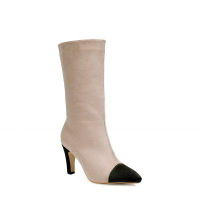 Pointed Knee-High Female Boots
