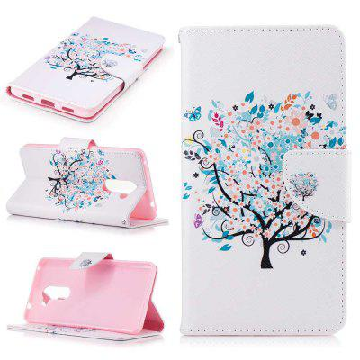 Small Tree Painted PU Phone Case for HUAWEI Honor 6X