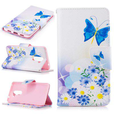 Butterflies in Love Painted PU Phone Case for HUAWEI Honor 6X