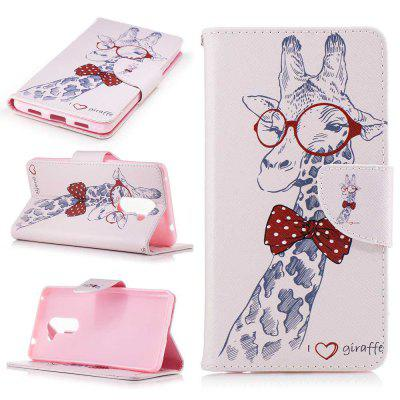 Giraffe Painted PU Phone Case for HUAWEI Honor 6X