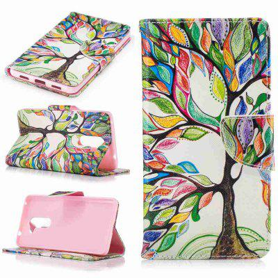 Colorful Tree Painted PU Phone Case for HUAWEI Honor 6X