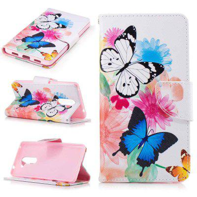 Two Butterflies Painted PU Phone Case for HUAWEI Honor 6X